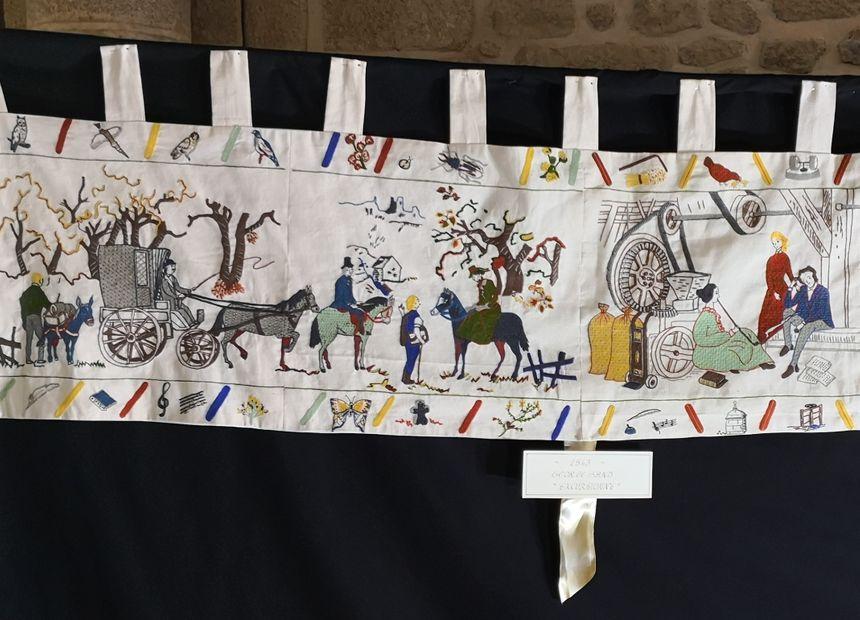 """""""1843, Georges Sand excursionne"""", l'une des nouvelles scènes de la tapisserie de Crozant (détail) - Radio France"""