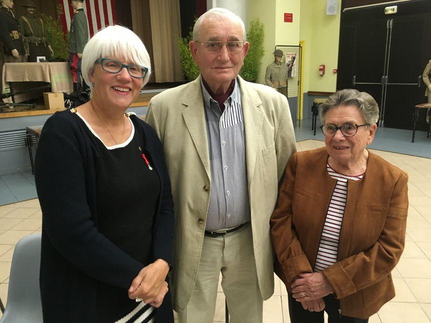 Lucien Chantereau, avec Helen Patton (à droite) et sa femme.