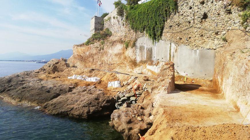 Le début de l'Aldilonda, autour des remparts de la citadelle de Bastia