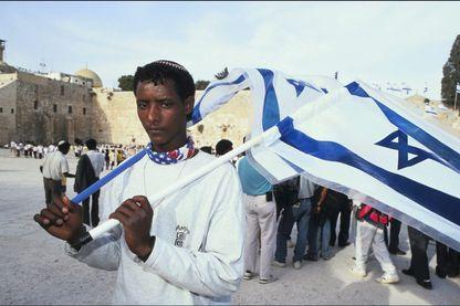 Falasha à Jérusalem lors de l'opération Salomon et le raparatiement de juifs éthiopiens en Israël en 1991