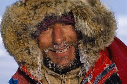 Jean-Louis Etienne lors de son expédition en solitaire vers le pôle Nord, avril 1986