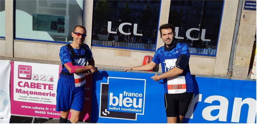 Les courageux participants de France Bleu Belfort-Montbéliard au semi-marathon