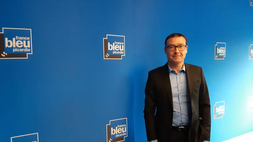 Christophe Lecomte, le secrétaire général de la CGT-Cheminots en Picardie