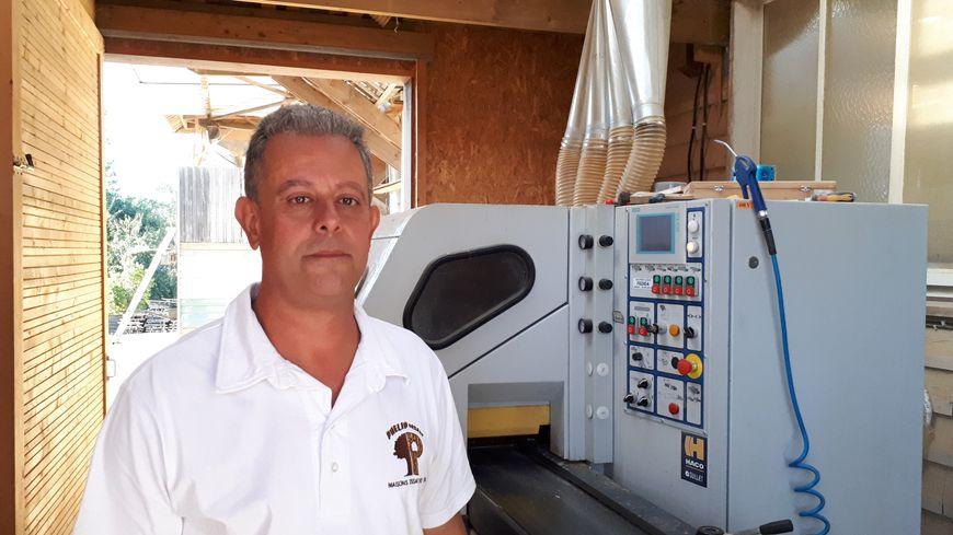 Jérôme Phélip, co-gérant des Maisons en ossature bois « Phélip Frères », à Boulazac