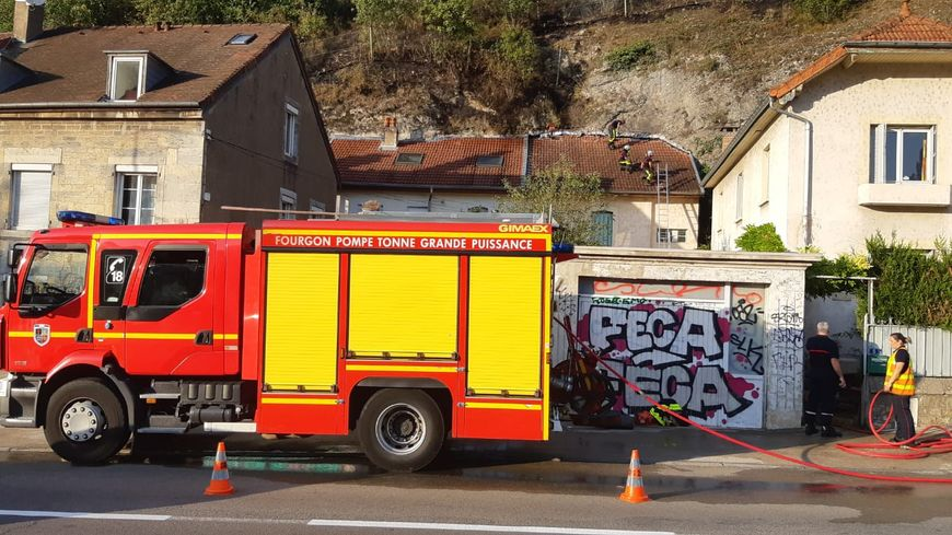 Les pompiers du Doubs ont intervenus faubourg Tarragnoz, au pied de la Citadelle