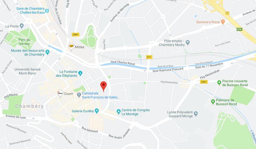 Rue d'Italie à Chambéry.