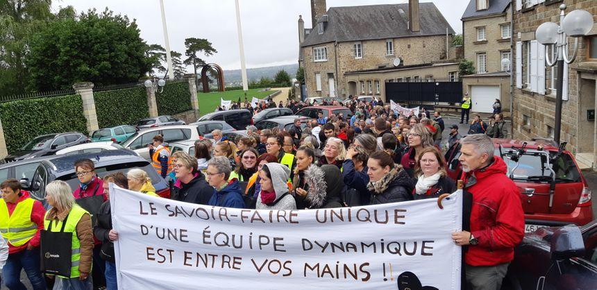 Les salariés de Remade ont manifesté pour défendre leurs emplois ce jeudi 26 septembre.