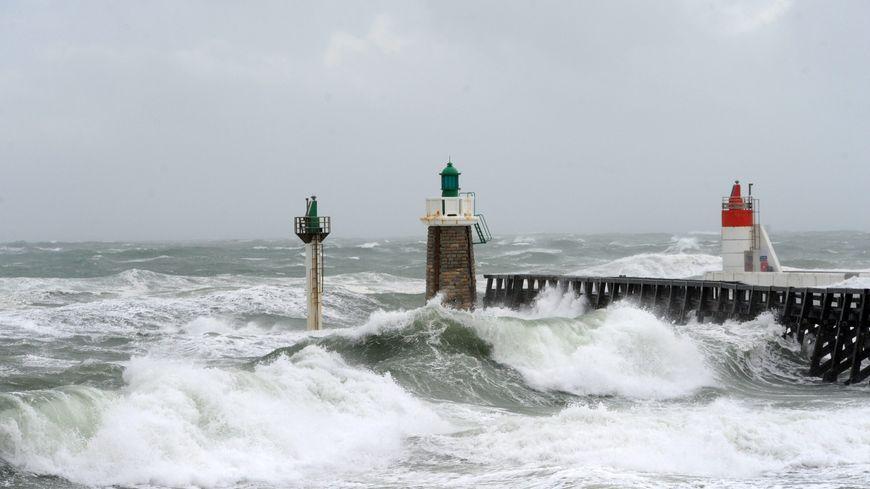 Capbreton sous la tempête en 2017