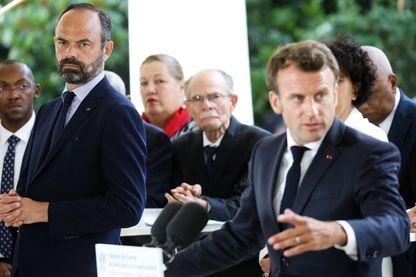 Emmanuel Macron, président de la République et Edouard Philippe, Premier ministre