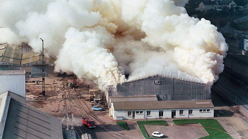 L'incendie du site de stockage d'engrais, en 1987 à Nantes