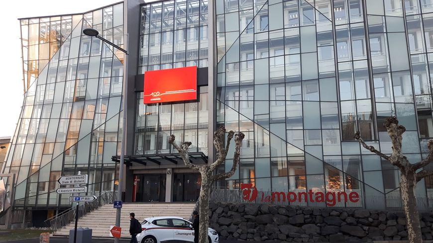 La façade du siège de la Montagne à Clermont-Ferrand