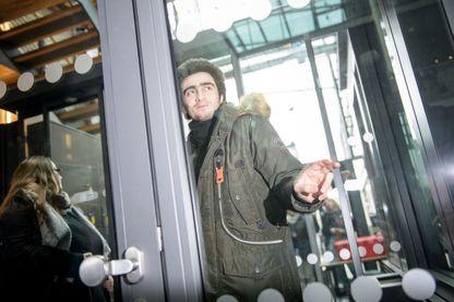 Anas Modamani pour son procès au tribunal Landgericht, février2017