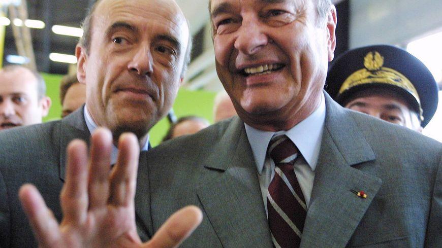 Alain Juppé et Jacques Chirac à la Foire internationale de Bordeaux en 2001.