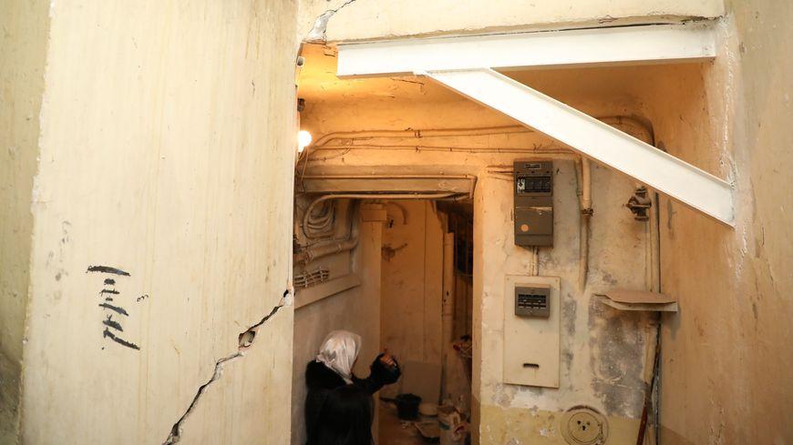 Insalubrité d'un immeuble de la rue d'Aubagne, après l'effondrement de deux immeubles