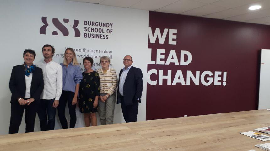 La convention entre la Burgundy School of Business de Dijon et l'association Wintegreat a été signée le 19 septembre 2019 à Dijon.