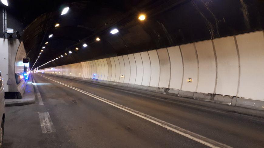 L'intérieur du tunnel du Mont-Blanc.