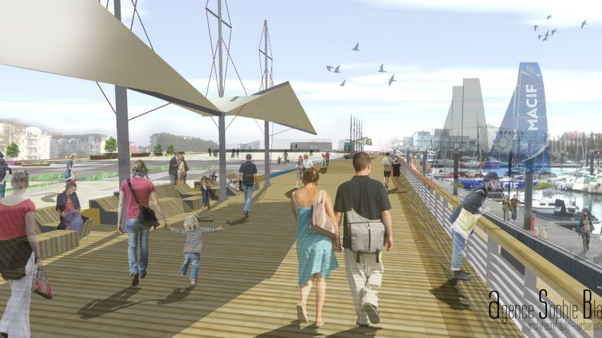 La place du Vendée Globe telle qu'elle devrait être inaugurée en juin 2020.