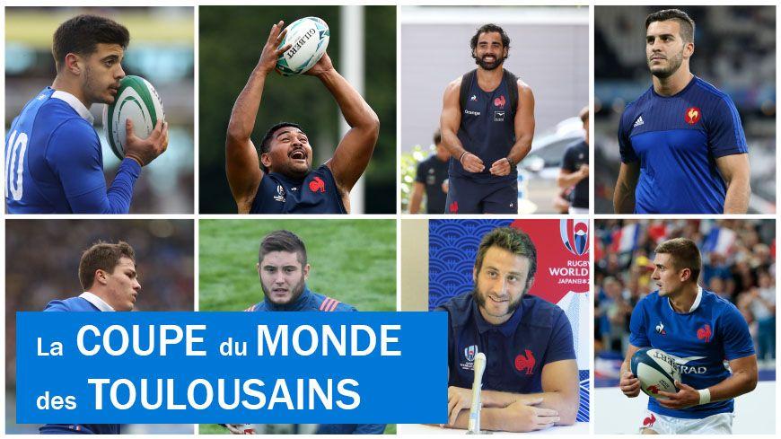 Les huit Toulousains de l'équipe de France