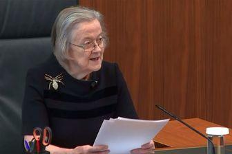 Lady Hale, la Présidente de la Cour Suprême, lit, mardi 24 septembre, l'avis unanime de la Cour contre la suspension du Parlement par le Premier ministre Boris Johnson.