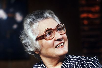 """Françoise Dolto (ici en septembre 1981) présentait la séquence """"Lorsque l'enfant paraît"""" sur France Inter"""