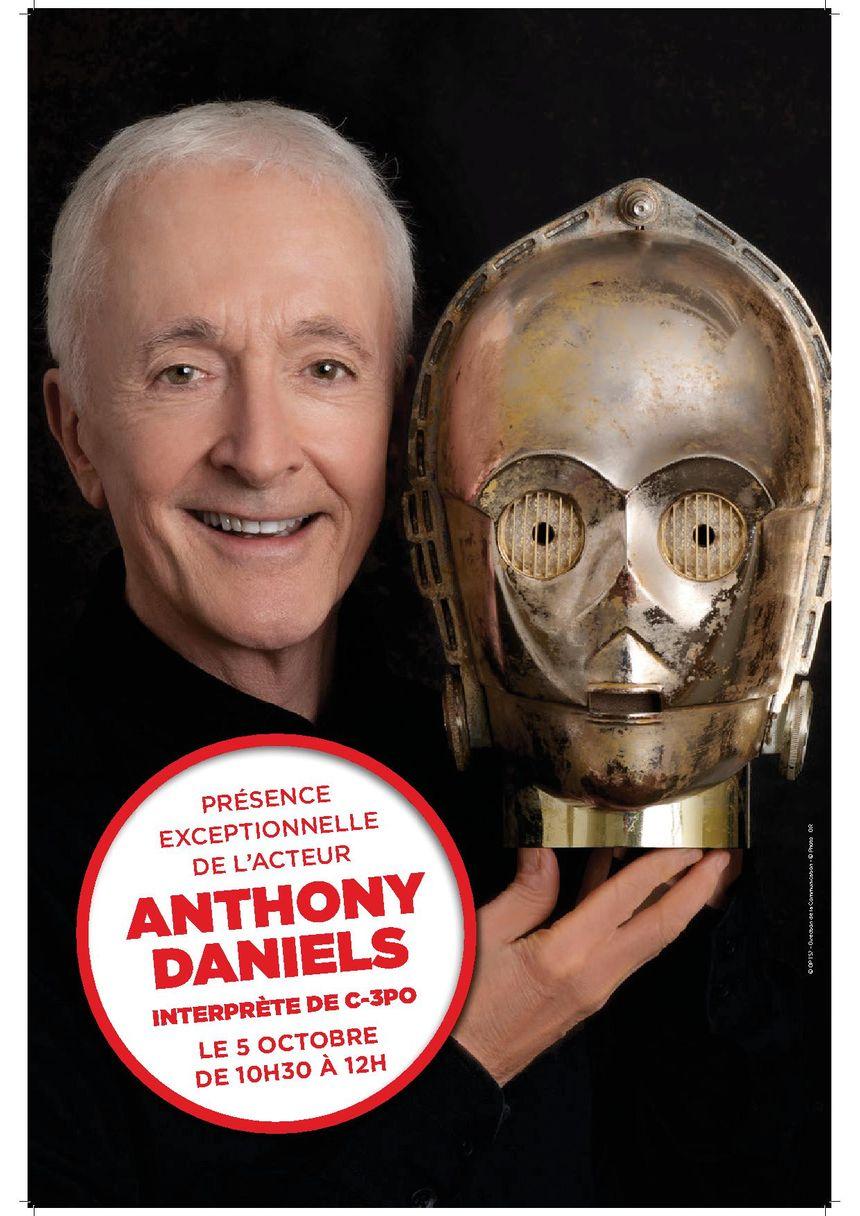 L'acteur Anthony DANIELS, interprète de C-3P0 dans Star Wars