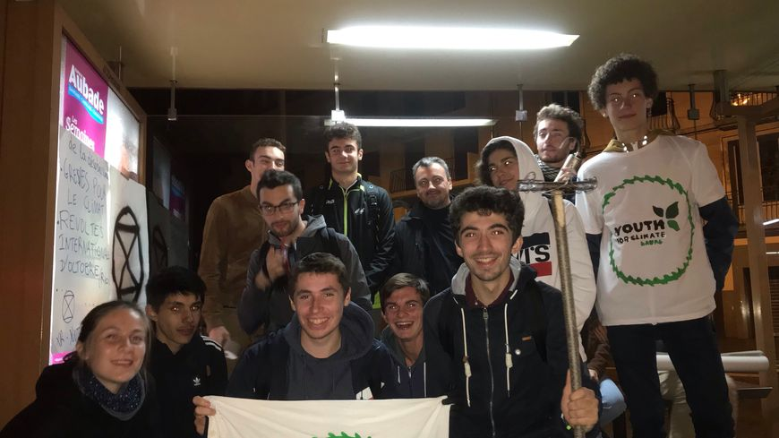 Des membres de Youth For Climate en Mayenne