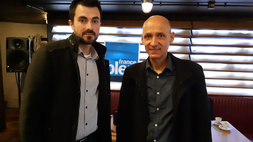 Bastien Lacan et Jérôme Majorel, deux participants au débat organisé par l'Elysée ce jeudi à Rodez.