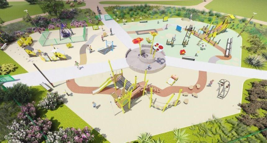 Il y aura 30 jeux et 50 activités ludiques installés dans l'aire de jeux inclusive du quartier Tohannic à Vannes - Aucun(e)