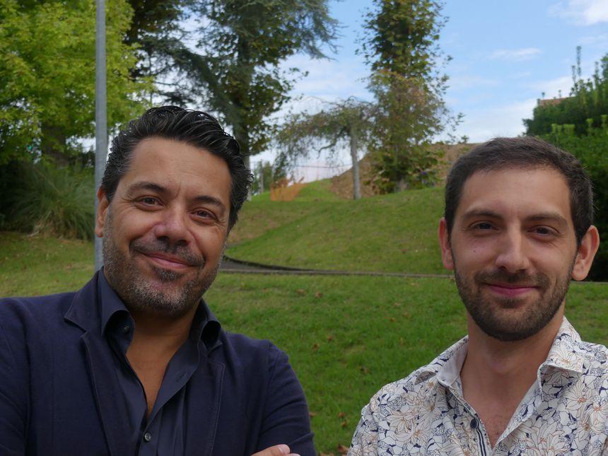 Les architectes Miguel Montouro (à gauche) et Christophe Rouard (à droite)