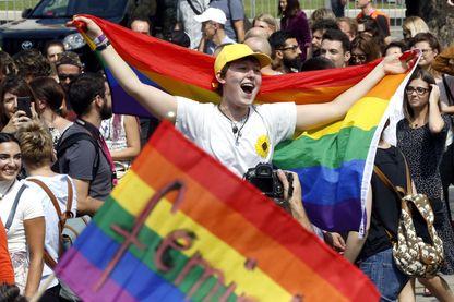 La première marche des fiertés LGBT à Sarajevo, Bosnie-Herzégovine, septembre2019