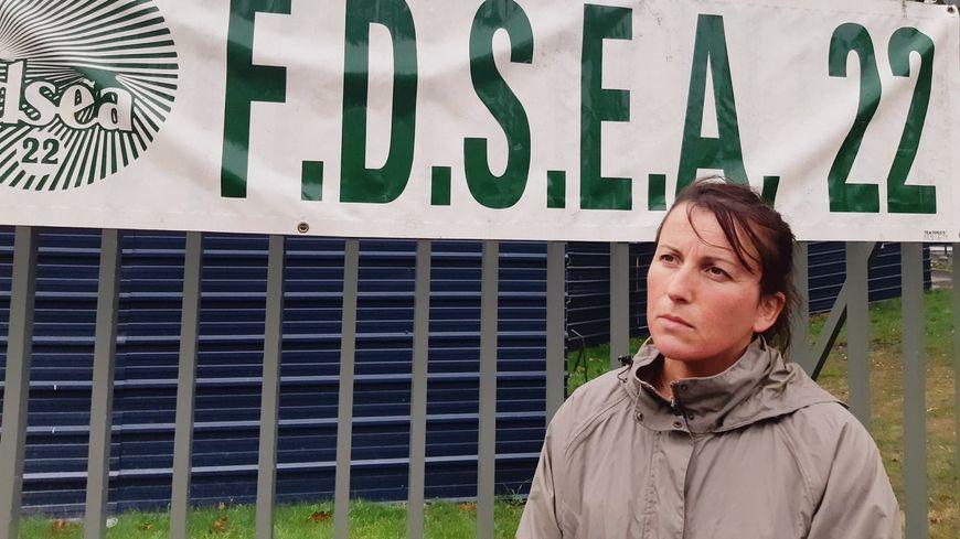 Fabienne Garel, président de la FDSEA des Côtes d'Armor