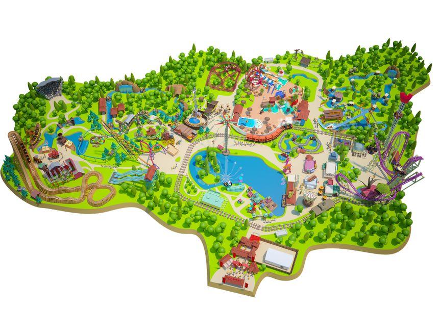 Plan du parc Walibi Rhône-Alpes!