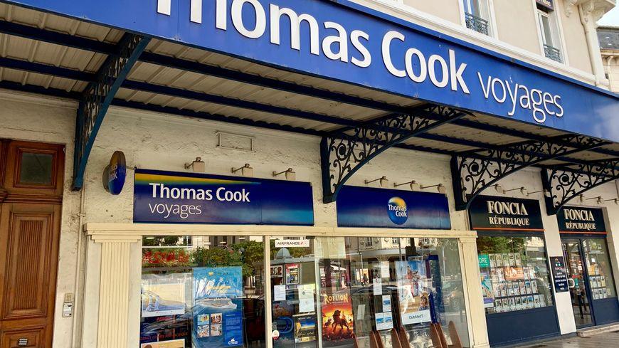 L'agence franchisée Thomas Cook à Valence, le 23 septembre 2019