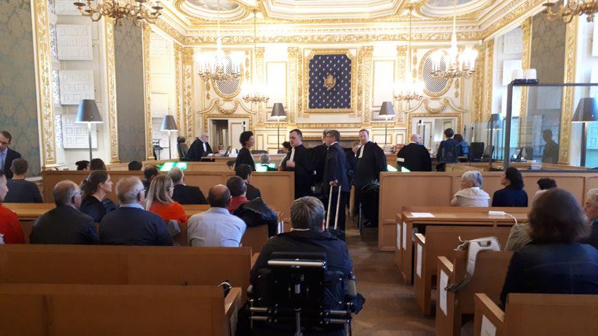 La salle d'audience de la Cour d'appel de Rennes