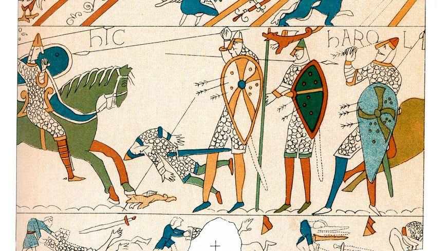 Tapisserie de Bayeux - Bataille de Hastings.