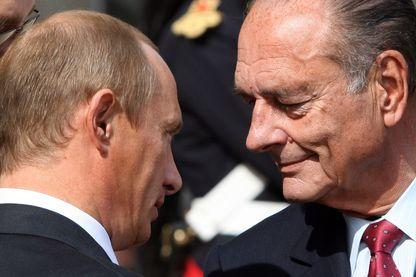Vladimir Poutine et Jacques Chirac en 2006 lors d'une rencontre à Compiègne.