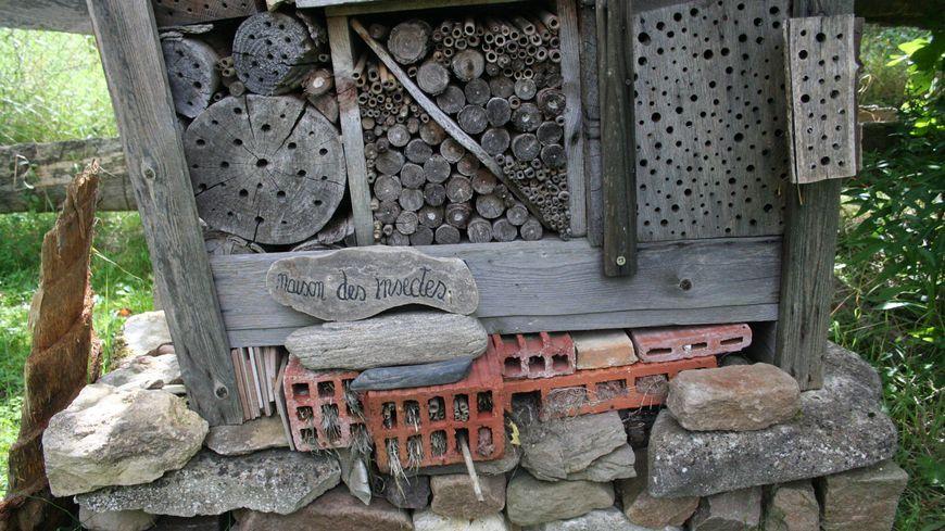 Un hôtel à insectes au jardin refuge