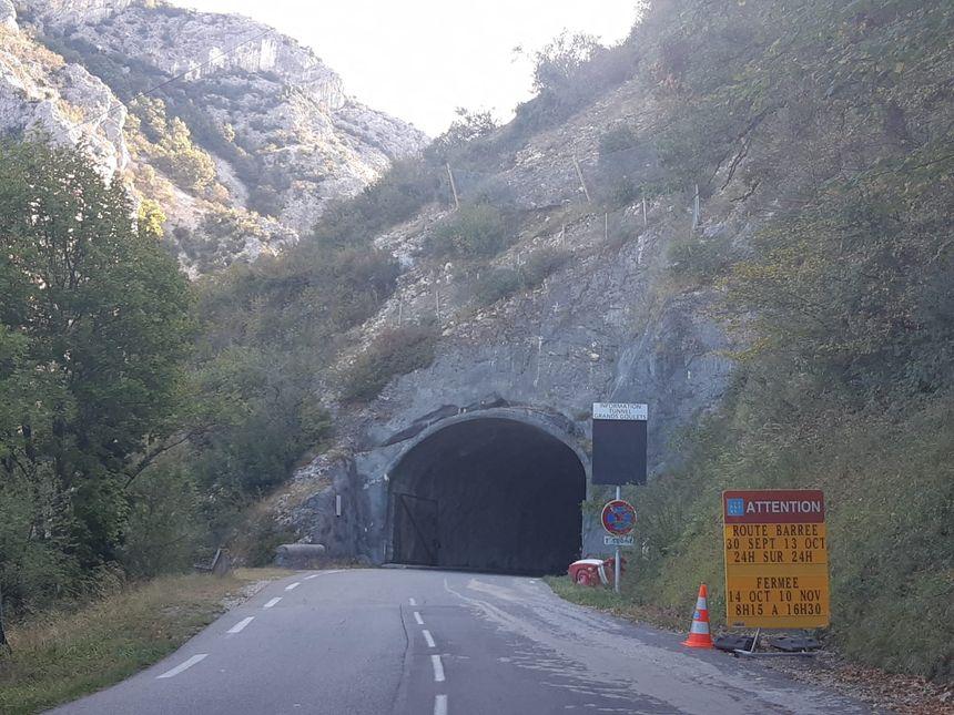 La route des Petits Goulets dans la Drôme ferme pour travaux