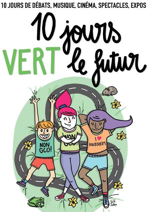 """L'affiche du festival """"10 jours vert le futur"""""""