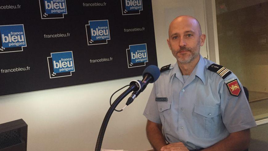 Le lieutenant colonel Louis Pauty, nouveau patron des gendarmes de la Dordogne