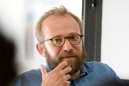 """Nicolas Pariser réalisateur du film """"Alice et le Maire"""" en conférence de presse le 17 septembre 2019 à Lyon."""