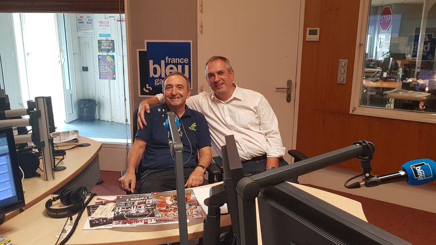 Francis Poustis (à gauche) et Patrice Larrosa (à droite), membres du comité de rédaction de La Cazérienne