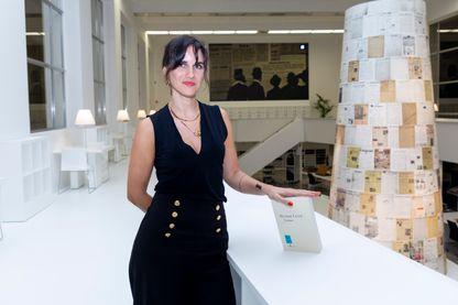 L'écrivaine Myriam Leroy lors de la cérémonie de remise des prix littéraires du «Prix Victor Rossel», le jeudi 6 décembre 2018 à Bruxelles.