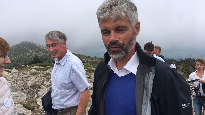 Laurent Wauquiez au sommet du mont Mézenc ce dimanche