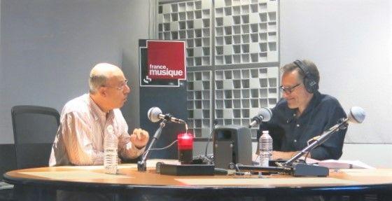 France Musique, studio 451... Claude Abromont, musicologue & Philippe Venturini, producteur de l'émission (g. à d.)