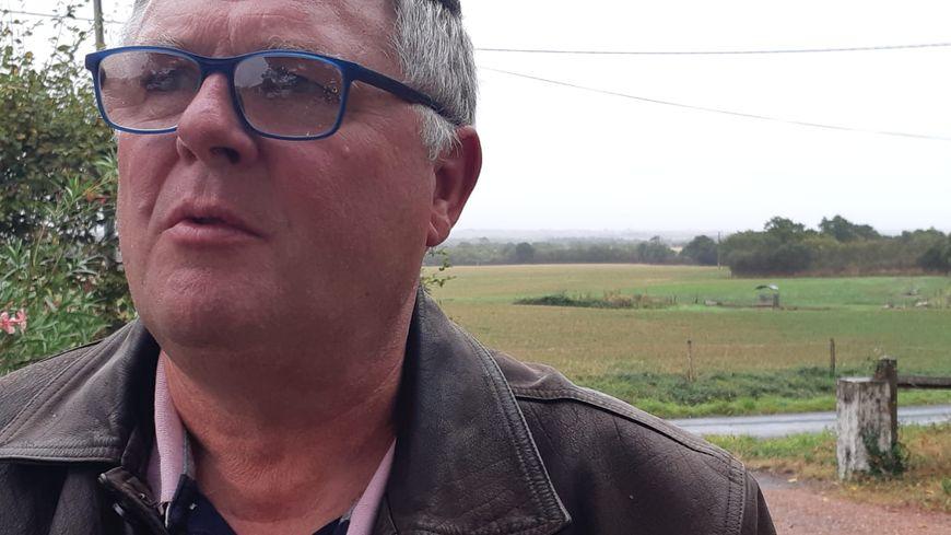 Alain Taupin, chez lui le mercredi 25 septembre à Vairé.