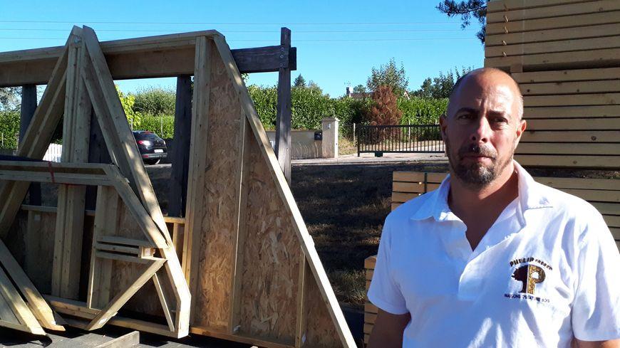 Thomas Phélip, co-gérant des Maisons en ossature bois « Phélip Frères », à Boulazac