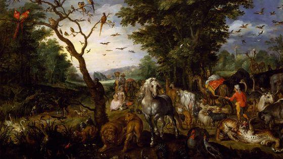 """""""L'entrée des animaux dans l'arche de Noé"""" - Jan Brueghel l'Ancien (1568-1625)."""