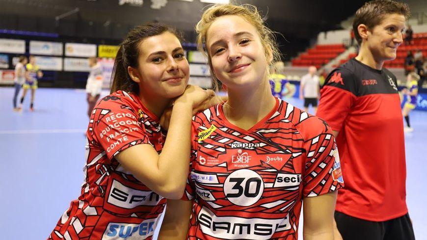 Satisfaction du travail bien fait encore à domicile pour les handballeuses de Besançon (ESBF): les jeunes Lucie Granier et Juliette Faure, notamment, comme leur coach Raphaëlle Tervel