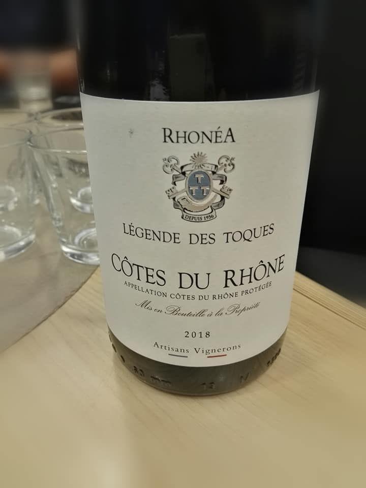 La cuvée Rhonéa, Légende des Toques.